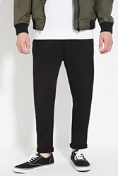 Forever 21 Cuffed French Terry Pants Black