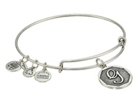 Alex And Ani Initial G Charm Bangle Rafaelian Silver Finish Bracelet