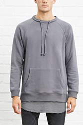 Forever 21 Drawstring Terry Knit Pullover