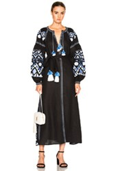 March 11 Kilim Maxi Dress In Black Geometric Print Black Geometric Print