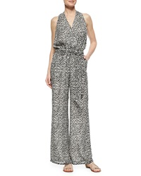 Tory Burch Tribal Print Wide Leg Jumpsuit