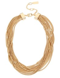 Kenneth Cole Pave Multi Row Necklace Gold