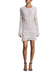 For Love And Lemons Open Back Lace Dress White Black