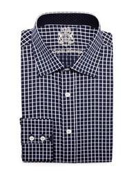 English Laundry Grid Check Long Sleeve Dress Shirt Blk