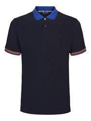 Aquascutum London Men's Timbs Contrast Polo Navy