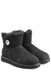 Ugg Australia Mini Bailey Bling Boots With Swarovski Crystal Black