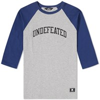 Undefeated 3 4 Field Raglan Tee Blue