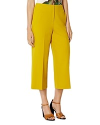 Karen Millen Cropped Wide Leg Pants Yellow