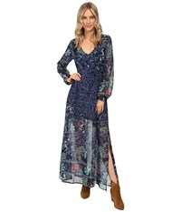 Billabong Dreaming Away Maxi Dress Peacoat Women's Dress Blue