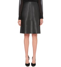 French Connection Rocker Leather Skirt Black