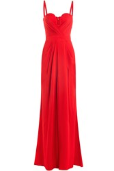 Alexander Mcqueen Floor Length Dress Red