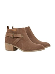 White Stuff Fern Block Heeled Ankle Boot Brown