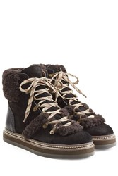 See By Chloe Ankle Boots With Shearling And Suede Black