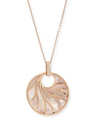 Venus Pink Mother Of Pearl And Diamond Pendant Necklace Frederic Sage