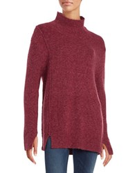 French Connection Autumn Rsvp Cowl Neck Wool Blend Sweater Red