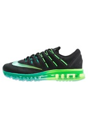 Nike Performance Air Max 2016 Cushioned Running Shoes Black Multicolor Midnight Turquoise Clear Jade Rage Green