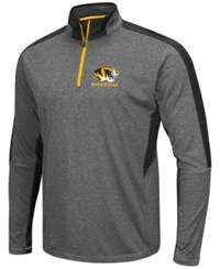 Colosseum Men's Missouri Tigers Atlas Quarter Zip Pullover Charcoal Black