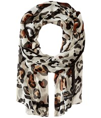 Vince Camuto Classic Spots Classic Scarves White