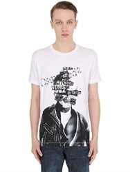 Dsquared Collage Printed Cotton Jersey T Shirt