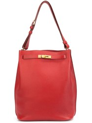 Hermes Vintage 'Kelly' Tote Bag Red