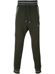 Vivienne Westwood Man Striped Sweatpants Green
