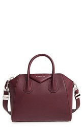 Givenchy 'Small Antigona' Leather Satchel Red Oxblood Red