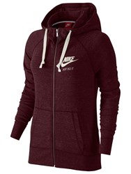 Nike Sportswear Gym Vintage Full Zip Hoodie Night Maroon Sail