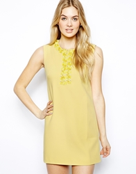Arrogant Cat London Sleeveless Shift Dress In Applique