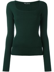 Dolce And Gabbana Ribbed Jumper Red