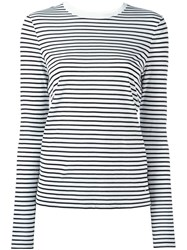 Alexander Wang T By Striped T Shirt White