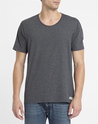 Element Charcoal Basic Open Neck Crew T Shirt Grey