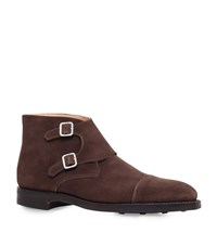 Crockett Jones And Camberley Monk Shoes Male Brown