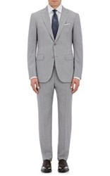 Ermenegildo Zegna Men's Torin Wool Two Button Suit Silver