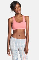 Hard Tail 'Cat's Cradle' Sports Bra Poppy Pink