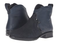 Naot Footwear Sirocco Navy Reptile Leather Ink Leather Black Luster Leather Women's Boots