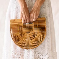 Vintage Bamboo Half Circle Purse At General Store