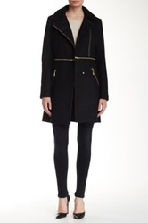 Rachel Roy Transformer Zip Off Coat Black