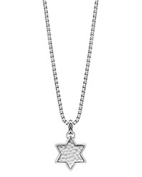 John Hardy Sterling Silver Classic Chain Star Of David Hammered Pendant Necklace 22