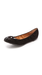 Marc By Marc Jacobs Scrunch Mouse Ballerina Flats Black