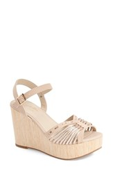 Seychelles Women's 'Mind' Wedge Sandal Nude Rose Gold