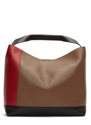 Marni Contrast Panelled Pod Tote Bag Red