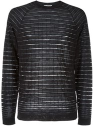 Versace Collection Striped Jumper Black