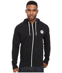Converse Core Full Zip Hoodie Black Men's Sweatshirt