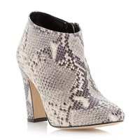 Dune Olyvia Dressy Heeled Ankle Boot Natural