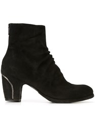 Officine Creative Zip Trim Ankle Boots Black