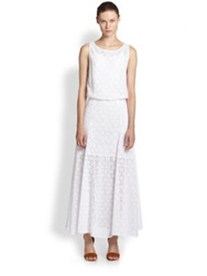Rebecca Minkoff Dina Lace Low Back Maxi Dress White