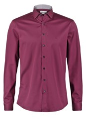 Ck Calvin Klein Rome Fitted Formal Shirt Pomegranate Red