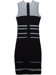 Alexandre Vauthier Sheer Panel Bodycon Dress Black