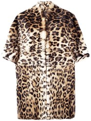 Plein Sud Jeans Animal Print Coat Nude And Neutrals