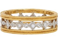 Cathy Waterman Women's Diamond Platinum And Gold Band No Color